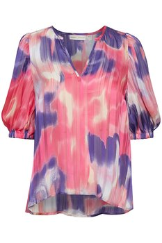 Jordaniw blus Pink Watercolour In Wear