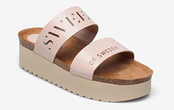 Sweeks - Hedda - Rosa slip in sandaler med platå