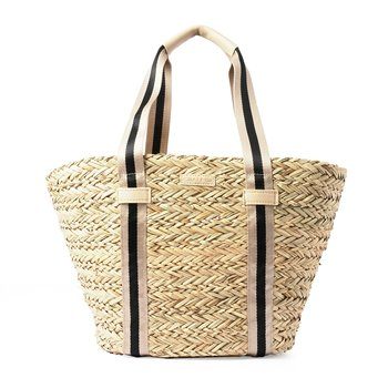 STRAW SHOPPER SAND STRIPE CEANNIS