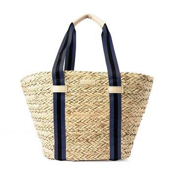 STRAW SHOPPER BLUE STRIPE CEANNIS