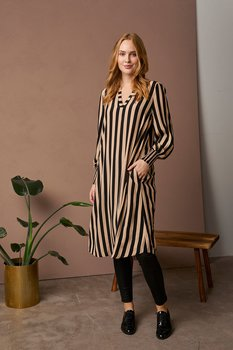 CUnoorinda Long Dress Black/Beige Culture
