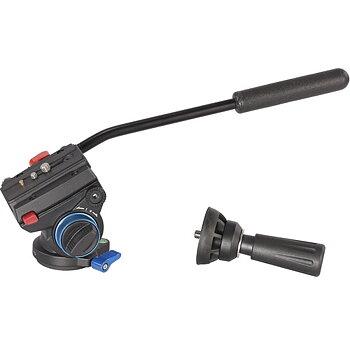 Leofoto VT-10 Videohuvud. Platt bas eller 60mm skål