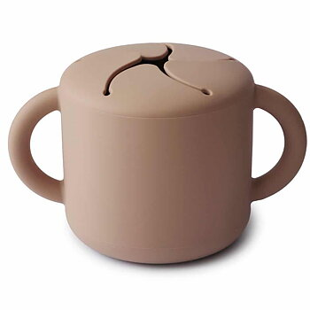 Mushie Snack Cup-  Beige/Brun
