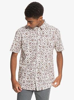 Quiksilver Baja Blues Short Sleeve Shirt Antique White