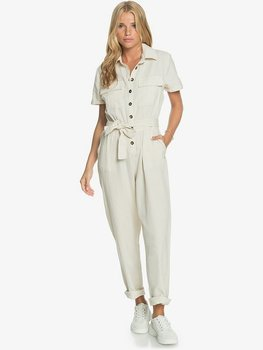 Roxy Beach Wonderland Short Sleeve Jumpsuit Tapioca