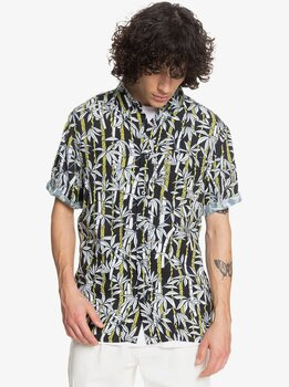 Quiksilver Originals Jungle Fever Short Sleeve Shirt Black