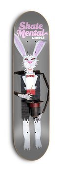 Skate Mental Skateboards Giorgio Armani Rabbit Doll Grey 8.125""