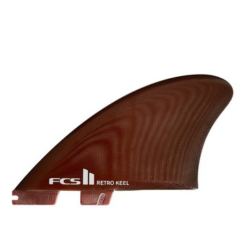 FCS II Retro Keel Twin Fin Red