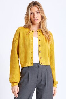 Brixton Women Domino Cardigan Lemon Curry