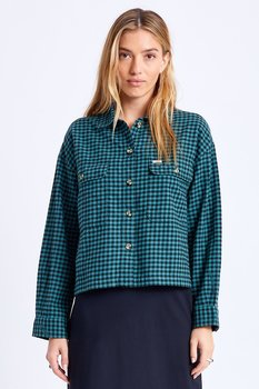 Brixton Women Bowery Lightweight L/S Flannel Silver Pine