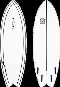 """Pukas Surfboards INN/CA Tech Wombi Fish 5.10"""" by Eye Symmetry"""