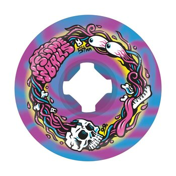 Slime Balls Wheels Brains Speed Balls Swirl 99a Blue/Purple 54mm