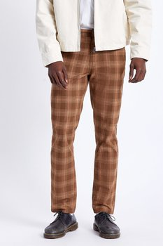 Brixton Choice Chino Pant Washed Brown Plaid
