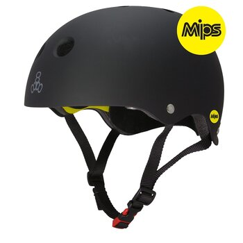 Triple 8 Dual Certified MIPS Helmet Black Rubber