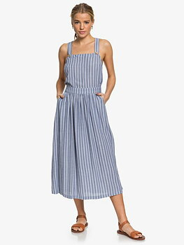 Roxy Summer Transparency Strappy Midi Dress True Navy