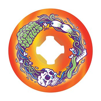Slime Balls Wheels Brains Speed Balls Swirl 99a Orange/Yellow 56mm