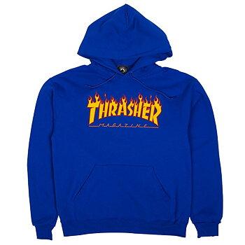 Thrasher Flame Logo Hoodie Royal