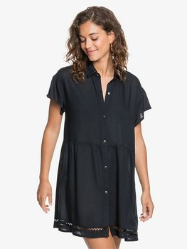 Roxy Beauty Truth Beach Shirt Dress Anthracite