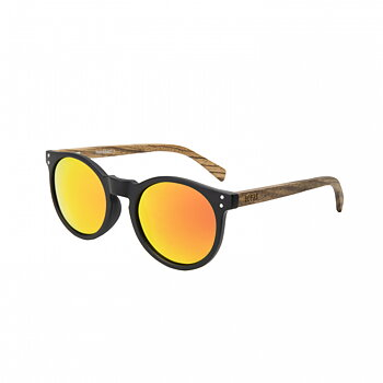 Ocean Sunglasses Lizard Wood Zebra/Black/Red