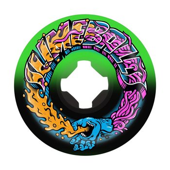 Slime Balls Wheels Greetings Speed Balls Swirl 99a Multi 56mm