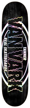 "Real Skateboards Tanner New Pro Oval  8.38"" Black"
