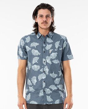 Rip Curl Saltwater Culture Short Sleeve Shirt Washed Navy