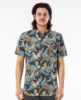 Rip Curl Hawaiian Short Sleeve Shirt Navy