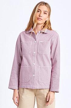 Brixton Women Karen Round Collar Chore Coat Cowhide