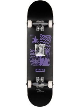 "Globe G1 Fairweather 7.75"" Black/Purple Complete Skateboard"
