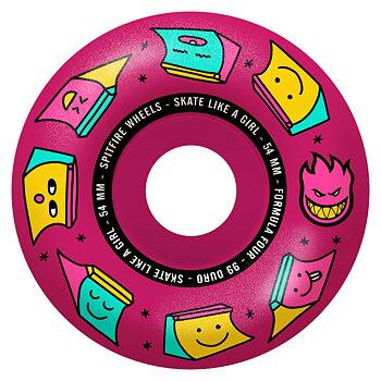 Spitfire Wheels Formula Four Skate Like A Girl Radial 99DU 54mm Pink