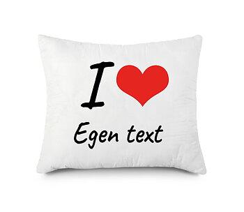 I love med hjärta egen text egen design - Kuddfodral