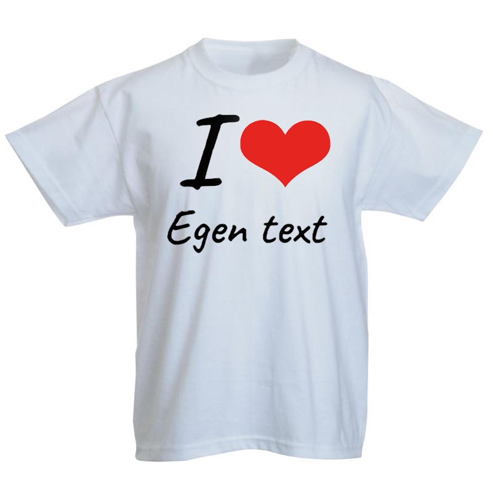 DESIGNA EGEN BILD & TEXT BARN T SHIRT Royaldekor.se