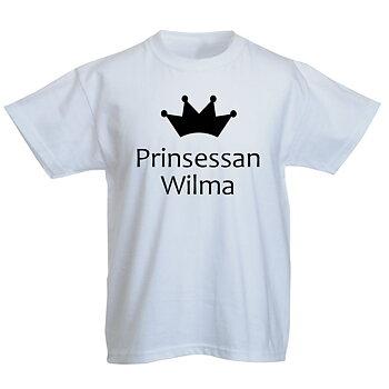 Barn T-shirt - Prinsessan med eget namn