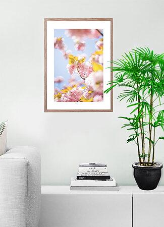 Blommor natur bakgrund ram 10 - poster