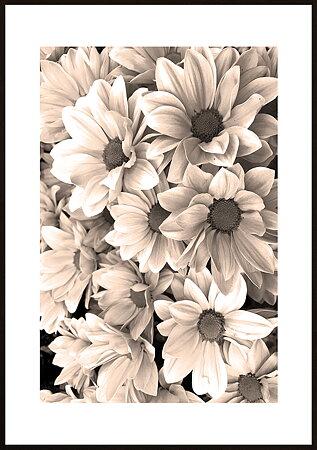 Rosa blommor ram 6 - poster