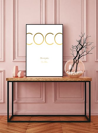 COCO GULD VIT POSTER