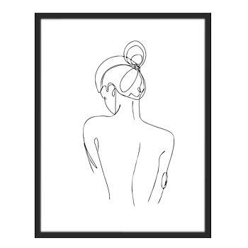 Ryggen på en kvinna, Line art