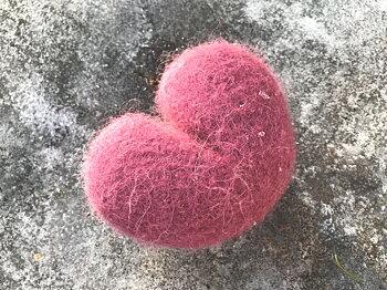 Hjärta - Hallonrosa