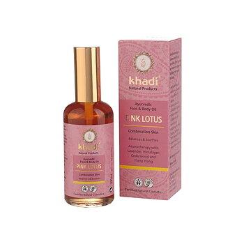 Khadi Pink Lotus ansiktsolja & kroppsolja
