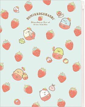 Sumikko Gurashi Kissa Sumikko de Strawberry Fair Clear Folder (6+1 Pocket)