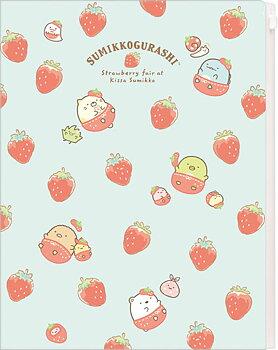 Sumikko Gurashi Kissa Sumikko de Strawberry Fair Clear Folder (6+1 Pocket)