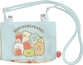 Sumikko Gurashi Kissa Sumikko de Strawberry Fair Multi-pocket Pouch