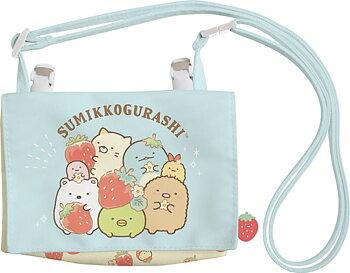 Sumikko Gurashi Kissa Sumikko de Strawberry Fair Multi-pocket Pouch