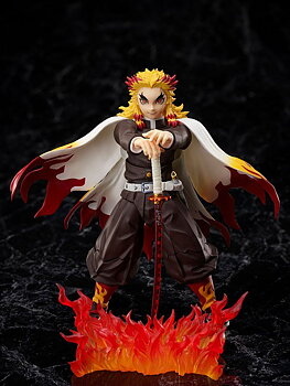 Demon Slayer: Kimetsu no Yaiba The Movie: Mugen Train Action Figure 1/12 Kyojuro Rengoku 15 cm