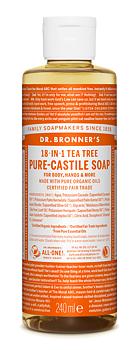 Multifunktionell tvål - 18-in-1 Liquid Soap, Tea Tree, 240 ml