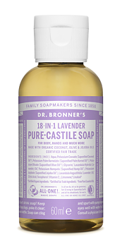 Multifunktionell tvål - 18-in-1 Liquid Soap, Lavender, 60 ml