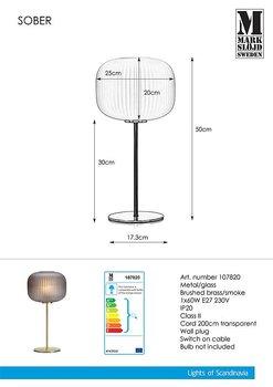 Bordlampa Sober Smoke - Markslöjd