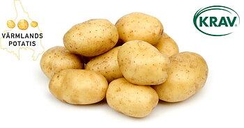 KRAV tvättad fast potatis 10 kg