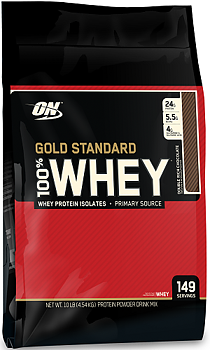 Optimum Nutrition 100% Whey Gold Standard, 4,54kg. Double Rich Chocolate