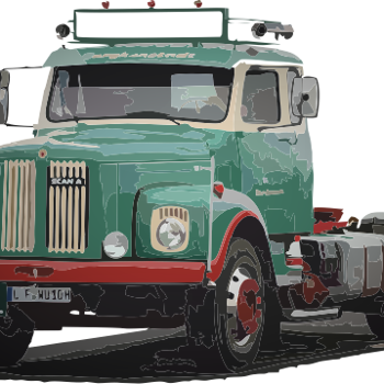 Scania 110/111 resin byggsats 1:24